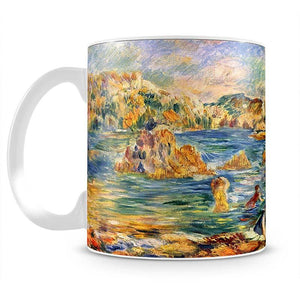 At the beach of Guernesey by Renoir Mug - Canvas Art Rocks - 2
