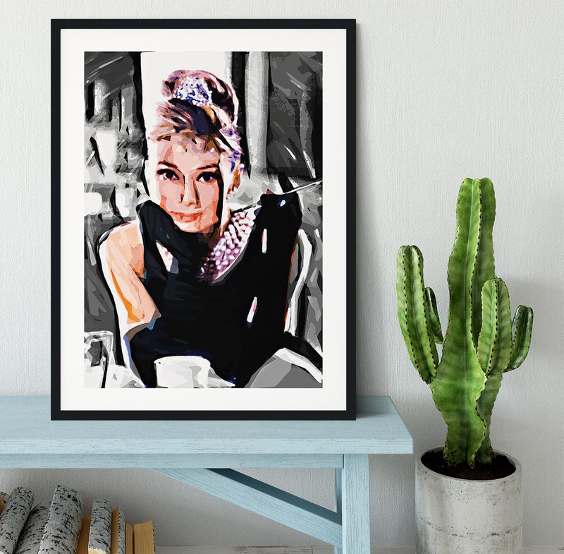 Audrey Hepburn Framed Print - Canvas Art Rocks - 1