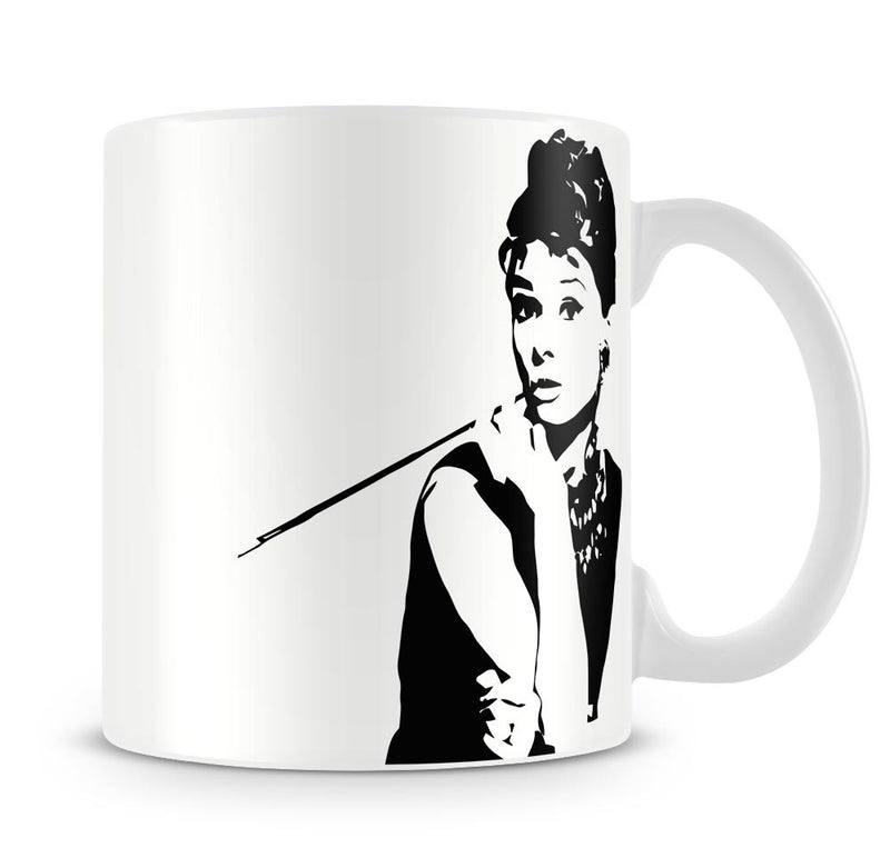 Audrey Hepburn and Cigarette Holder Mug - Canvas Art Rocks