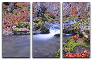 Autumn landscape lake 3 Split Panel Canvas Print - Canvas Art Rocks - 1