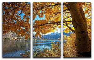 Autumn mountain lake 3 Split Panel Canvas Print - Canvas Art Rocks - 1