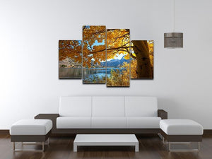 Autumn mountain lake 4 Split Panel Canvas  - Canvas Art Rocks - 3