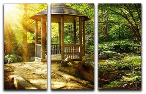 Autumnal Park Landscaping 3 Split Panel Canvas Print - Canvas Art Rocks - 1