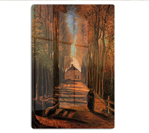 Avenue of Poplars in Autumn by Van Gogh HD Metal Print