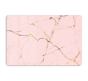 Baby Pink and Gold Marble HD Metal Print - Canvas Art Rocks - 1