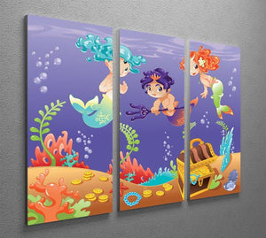 Baby Sirens and Baby Triton 3 Split Panel Canvas Print - Canvas Art Rocks - 2