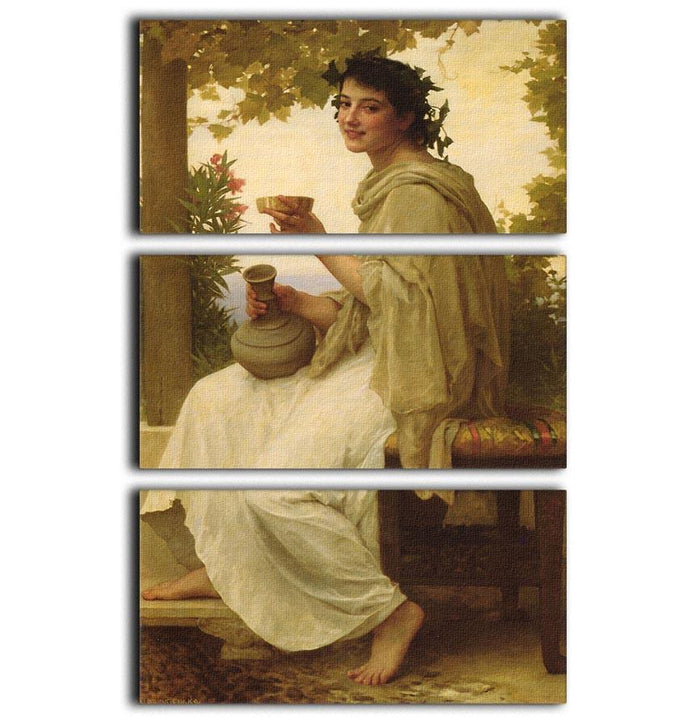 Bacchante By Bouguereau 3 Split Panel Canvas Print