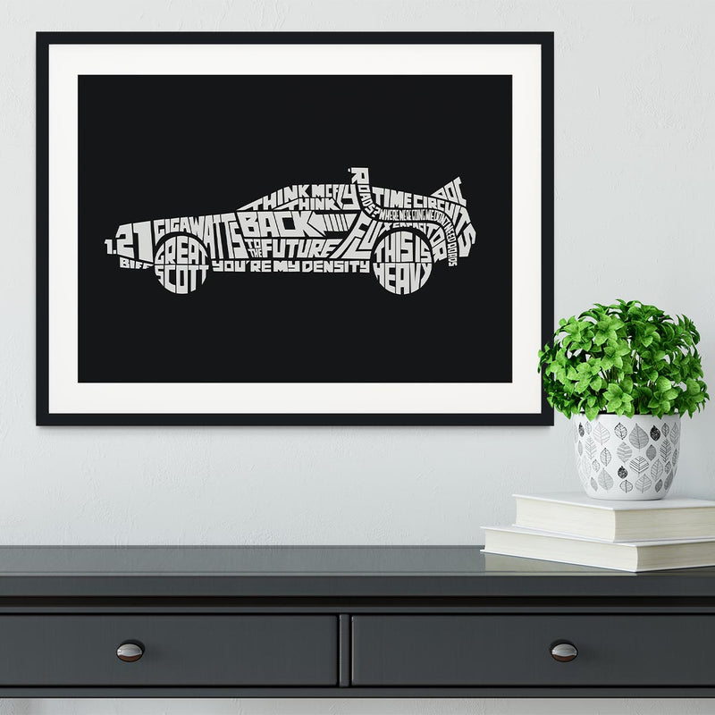 Back To The Future Car Quote Framed Print - Canvas Art Rocks - 1