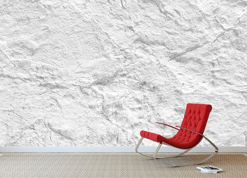 Background of white stone Wall Mural Wallpaper - Canvas Art Rocks - 1