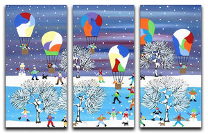 Balloons in the snow by Gordon Barker 3 Split Panel Canvas Print - Canvas Art Rocks - 1