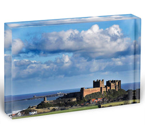 Bamburgh Castle Acrylic Block - Canvas Art Rocks - 1