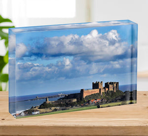 Bamburgh Castle Acrylic Block - Canvas Art Rocks - 2