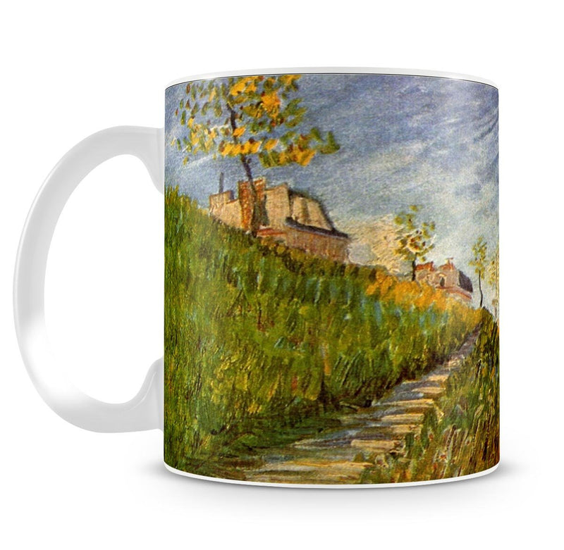 Banks of the Seine with Pont de Clichy by Van Gogh Mug - Canvas Art Rocks - 4