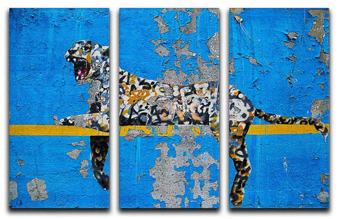 Banksy Cheetah Split-Panel Canvas Print - They'll Love Wall Art