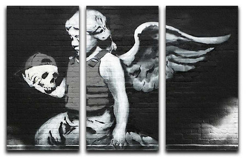 Banksy Cherub With Bullet-Proof Vest Split-Panel Canvas Print - They'll Love It