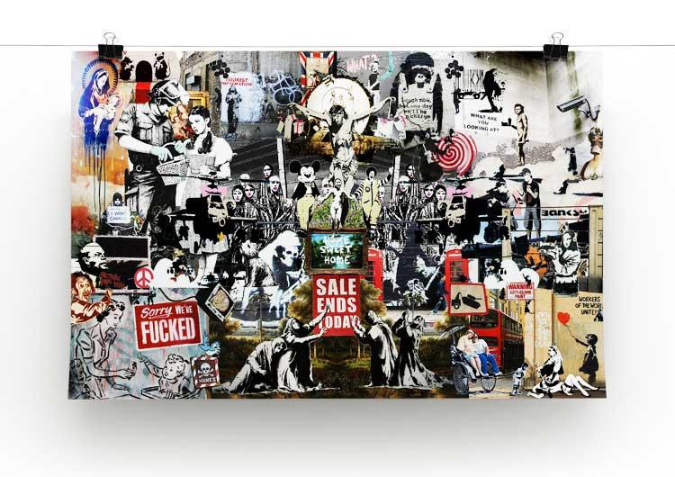 Banksy Collage Free Poster 12 x 8