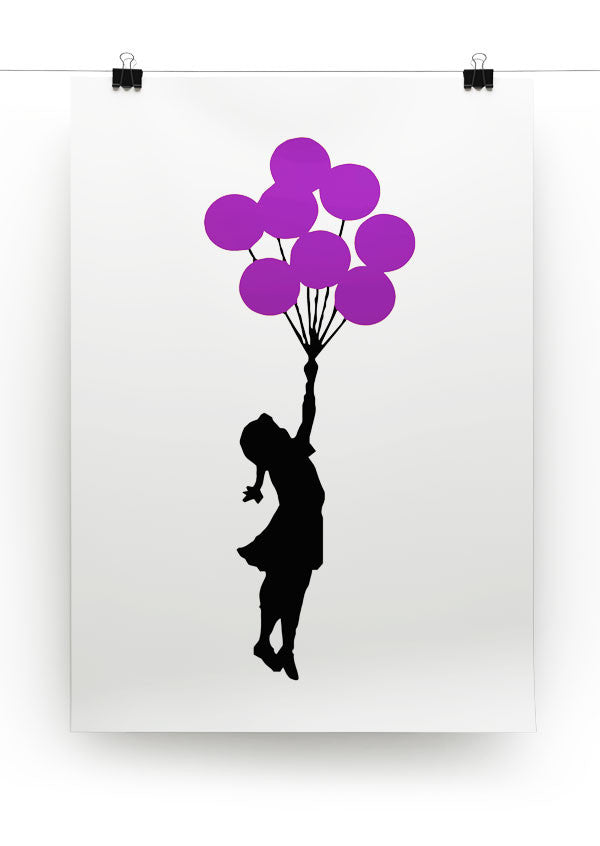 Banksy Flying Balloon Girl Print - Canvas Art Rocks - 7