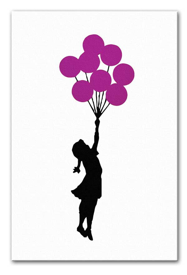 Banksy Flying Balloon Girl Print - Canvas Art Rocks - 4
