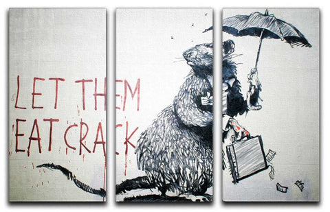Banksy Let Them Eat Crack Split-Panel Canvas Print - They'll Love Wall Art