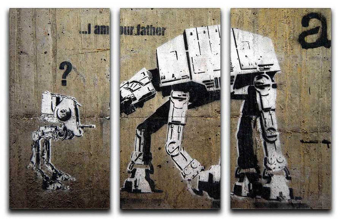 Banksy Star Wars 3 Split Canvas Print