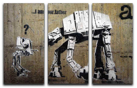 Banksy Star Wars 3 Split Canvas Print - They'll Love It