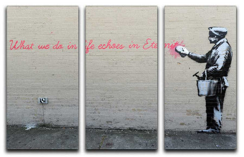 Banksy What We Do In Life Split-Panel Canvas Print - They'll Love Wall Art