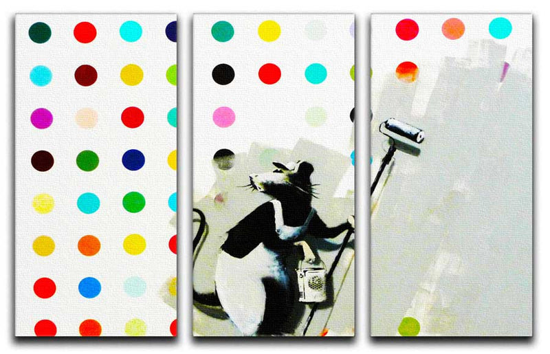 Banksy Does Damien Hirst Split-Panel Canvas Print - Canvas Art Rocks