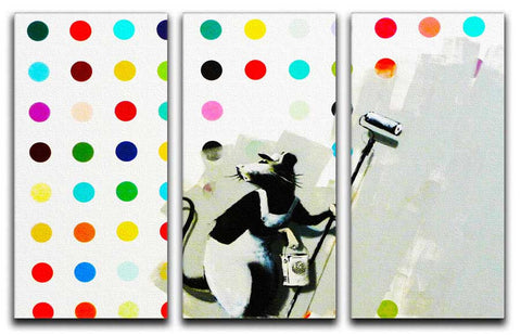 Banksy Does Damien Hirst Split-Panel Canvas Print - They'll Love Wall Art