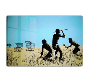 Banksy Aborigine Hunters HD Metal Print