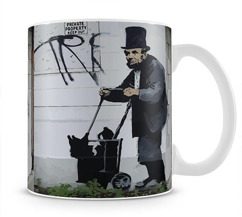 Banksy Abraham Lincoln Mug - Canvas Art Rocks - 4