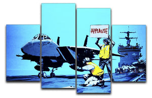 Banksy Aircraft Carrier Applause 4 Split Panel Canvas  - Canvas Art Rocks - 1