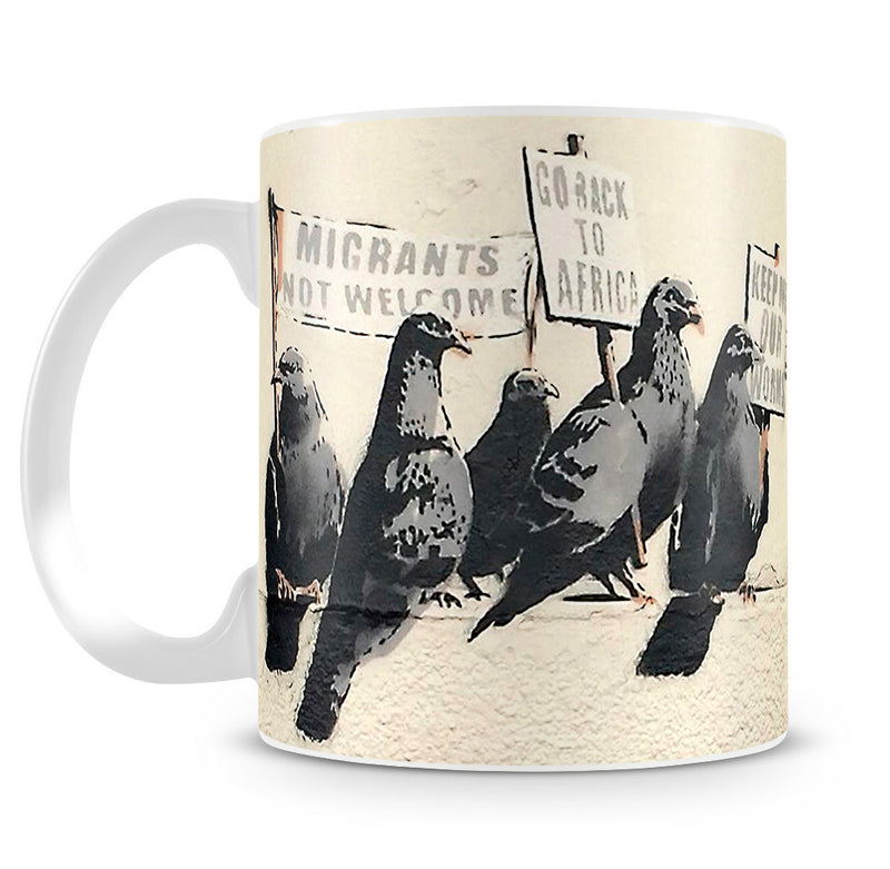 Banksy Anti-Immigration Birds Mug - Canvas Art Rocks