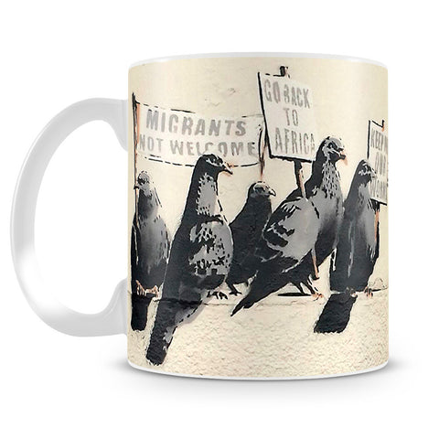 Banksy Anti-Immigration Birds Mug