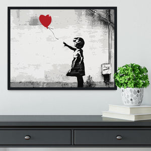 Banksy Balloon Girl Love Heart Framed Print - Canvas Art Rocks - 2