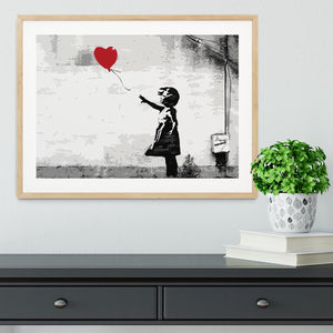 Banksy Balloon Girl Love Heart Framed Print - Canvas Art Rocks - 3