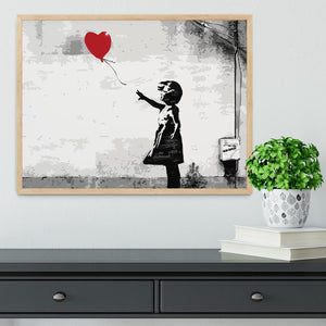 Banksy Balloon Girl Love Heart Framed Print - Canvas Art Rocks - 4