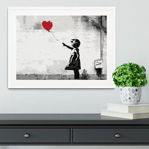 Banksy Balloon Girl Love Heart Framed Print - Canvas Art Rocks - 5