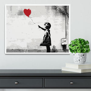 Banksy Balloon Girl Love Heart Framed Print - Canvas Art Rocks -6