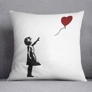 Banksy Balloon Heart Girl Cushion