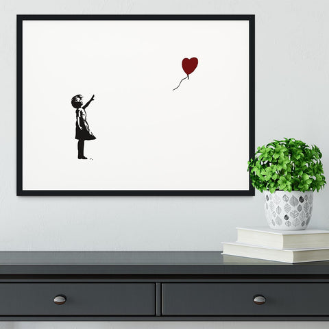Banksy Balloon Heart Girl Framed Print - Canvas Art Rocks - 1