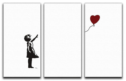 Banksy Balloon Heart Girl 3 Split Canvas Print