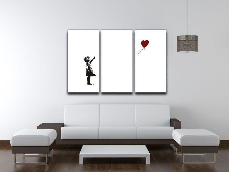 Banksy Balloon Heart Girl 3 Split Canvas Print - Canvas Art Rocks