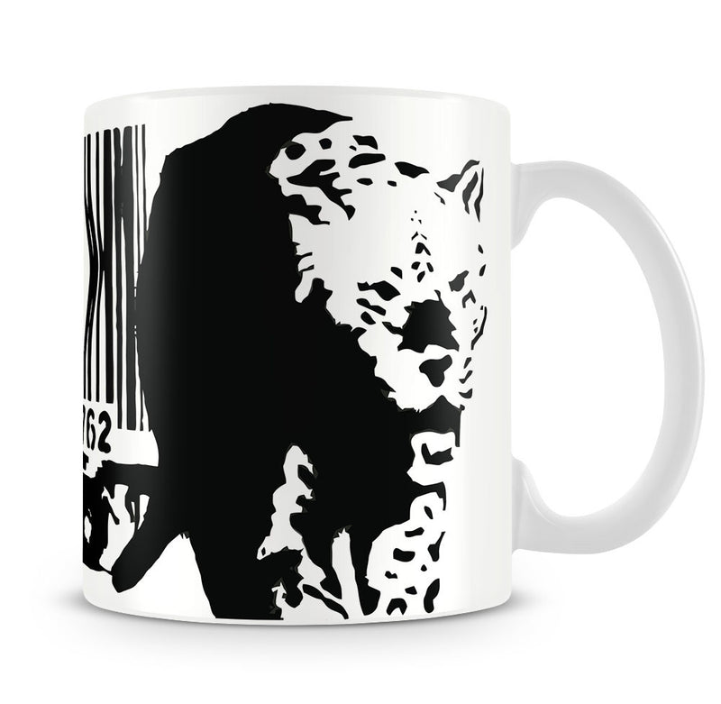 Banksy Barcode Leopard Mug - Canvas Art Rocks