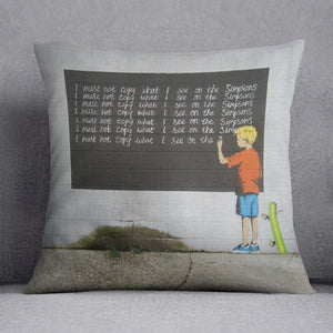 Banksy Bart Simpson Cushion