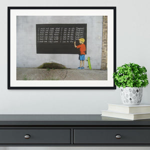 Banksy Bart Simpson Framed Print - Canvas Art Rocks - 1