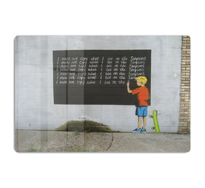 Banksy Bart Simpson HD Metal Print