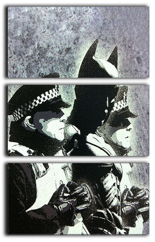 Banksy Batman and the Police 3 Split Canvas Print