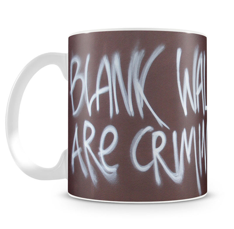 Banksy Blank Walls Are Criminal Mug - Canvas Art Rocks