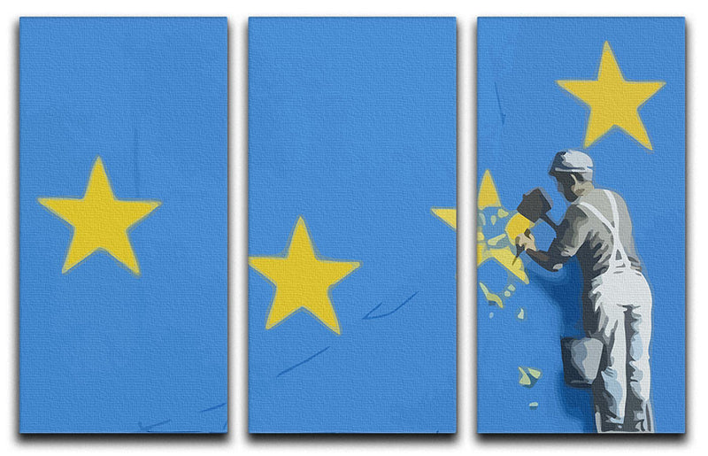Banksy Brexit Star Dover 3 Split Panel Canvas Print - Canvas Art Rocks