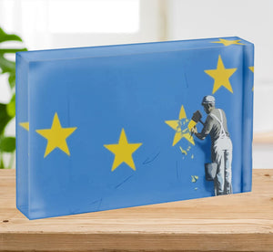 Banksy Brexit Star Dover Acrylic Block - Canvas Art Rocks - 2